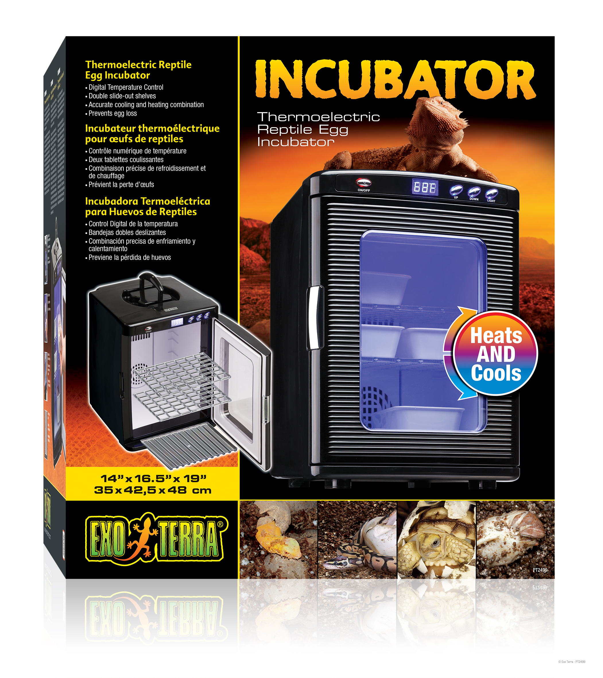 how to make a reptile incubator out of a refrigerator